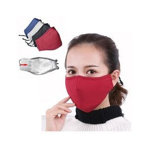 3 layers Mask With Replaceable 2.5PM Filter Pouch