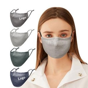 3-layer Cotton Linen Face Mask